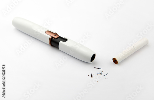 electronic smoke device white background nobody - Buy this stock