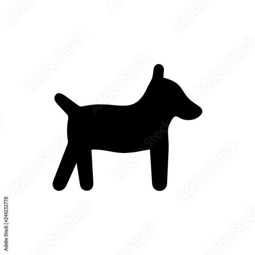 pies ikona - fototapety na wymiar