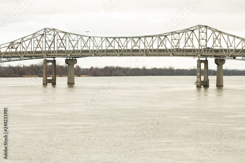 railroad bridge over the Tennessee River Canvas Print