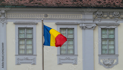 The Romanian Flag Towards An Old Building In Sibiu Romania Buy This Stock Photo And Explore Similar Images At Adobe Stock Adobe Stock