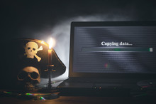Illegal Data Copying Concept. ...
