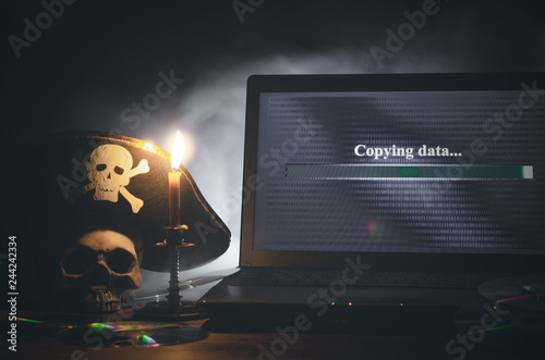 Illegal data copying concept Fototapet