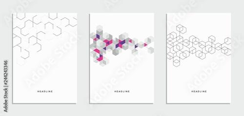 Fototapeta Abstract geometric technological flyer, brochure, corporate identity. obraz