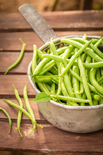 Healthy Green Beans In An Old ...
