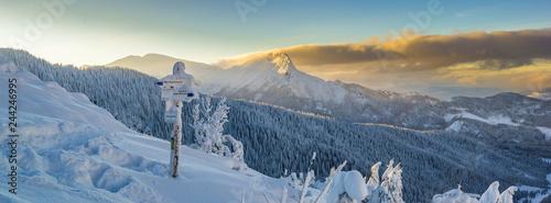 Fototapeta Giewont - Tatry, zima 01.2019 rok obraz