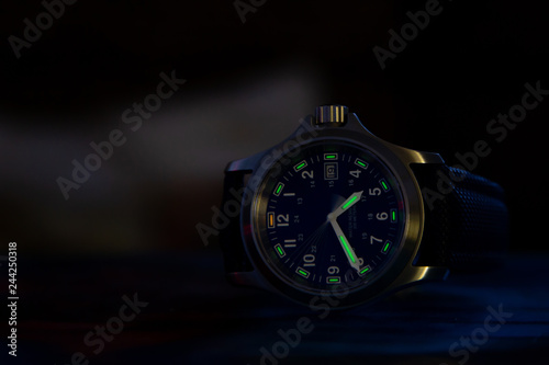 Fotografie, Obraz  Watch with tritium backlight