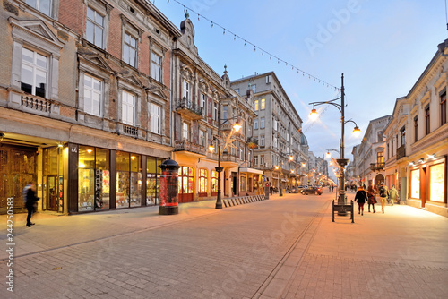 Łódź, Poland - Piotrkowska street.