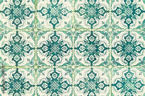 Foto  Portuguese tile house wall