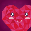 abstract heart face emoticon character