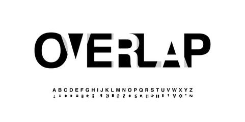modern alphabet font overlap style. calligraphy designs for logo, Poster, Invitation, etc. Typography font uppercase. vector illustration