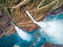 Nurek Dam Spillway, Taken In Tajikistan In August 2018 Taken In Hdr