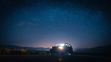 Car In Front Of Stars
