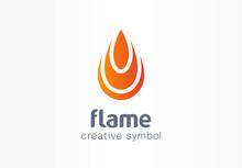 Flame Creative Symbol Concept....