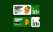 Summer Mango Party Invitation Design With Where And When Details