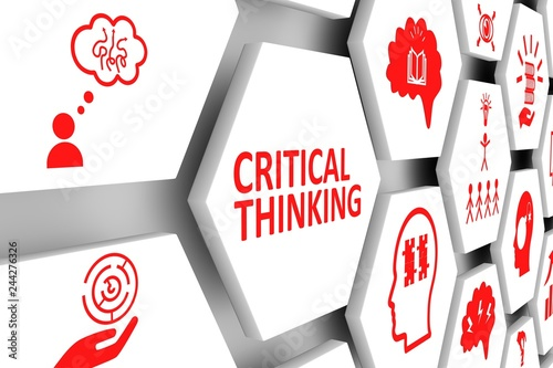 Fotografie, Obraz  CRITICAL THINKING concept cell background 3d illustration