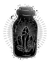 Magic Potion: Bottle Jar With ...
