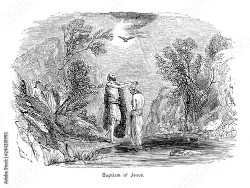 The Baptism Of Jesus Christ. Fotobehang
