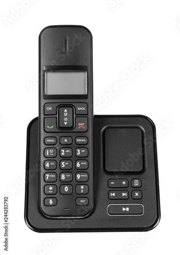 Obraz modern landline cordless phone, old technology concept. - fototapety do salonu