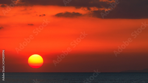 Cadres-photo bureau Brique Playa Aguja en soirée - Costa Rica