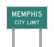 Memphis City Limit Road Sign
