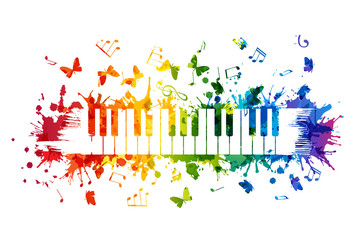 Creative rainbow musical il...