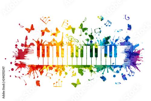 Creative rainbow musical il...