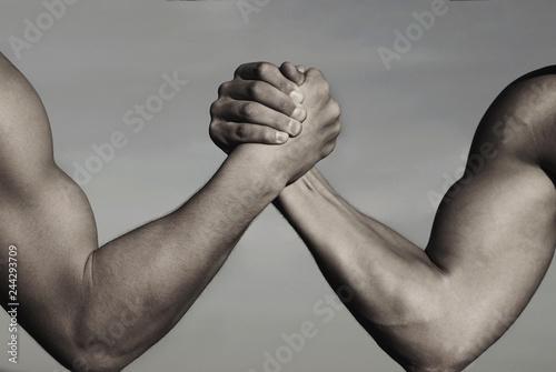 Fotomural  Rivalry, vs, challenge, strength comparison