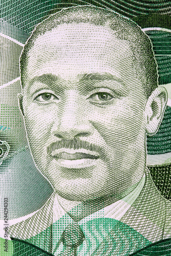 Cuadros en Lienzo Frank Worrell portrait from Barbadian dollars