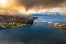 Isle Of Skye Bridge Aerial View Of Scotland, UK