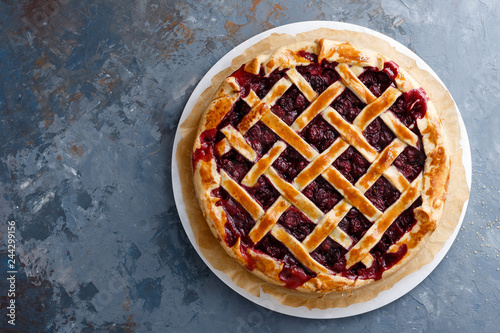 Photo  American cherry pie
