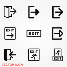 The Exit Icon. Logout And Outp...