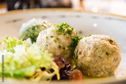Knödel specialty; boiled dumplings common in Central and Eastern Europe