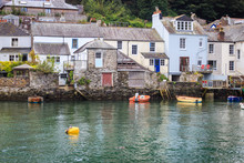 Beautiful Cornwall Hillside Fishing Village And Harbour