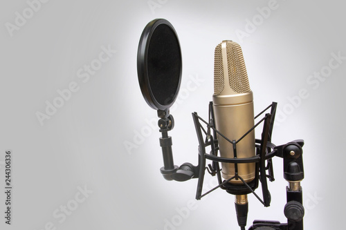 Mic for recording audio Canvas Print