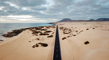 Aerial View Of An Empty Road T...