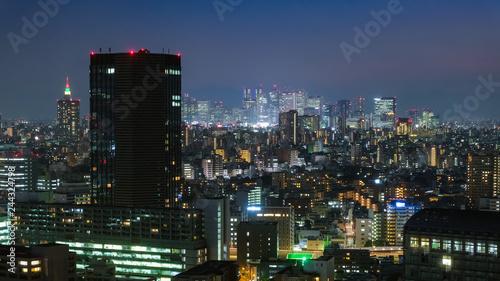 Poster Tokyo 東京 文京シビックセンター 展望ラウンジからの夜景(新宿方面)