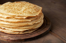 Stack Of Russian Pancake Blini...