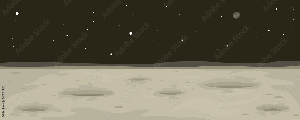 Fototapeta Moon Landscape Background