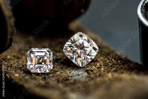 Valokuva Diamonds Cushion and Asscher Cut