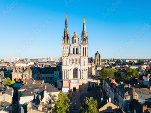 Saint Maurice Cathedral in Angers Canvas Print