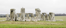 The Stone Monument Stonehenge A Cloudy Day,  Built In The Late Neolithic Period, Around 2500 BC For Unknown Reason