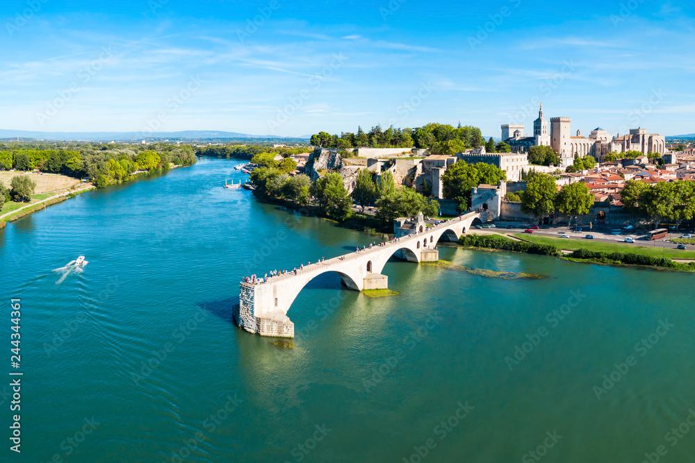 Fototapeta Avignon city aerial view, France
