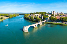 Avignon City Aerial View, France