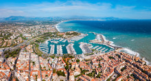 Antibes Aerial Panoramic View,...