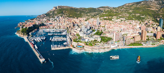 Monte Carlo, Monaco aerial view
