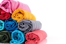 Close Up Colorful Of Rolls Cot...