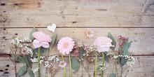 Frühlingsblumen Blumenstrauß Rosa - Muttertag Hochzeit Geburtstag Hintergrund