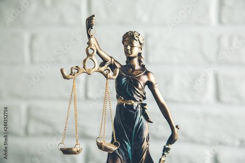 Fototapety, obrazy: justice lady white background