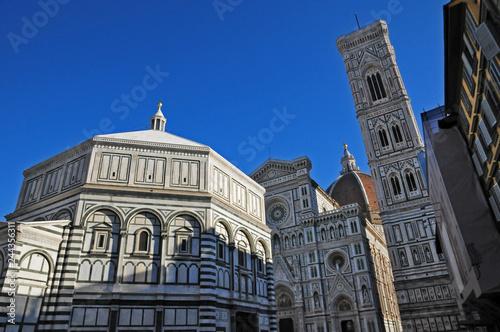 Fotografie, Obraz Firenze, Duomo, Battistero e campanile di Giotto