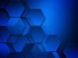 Abstract hexagon geometry background.Dark lighting.
